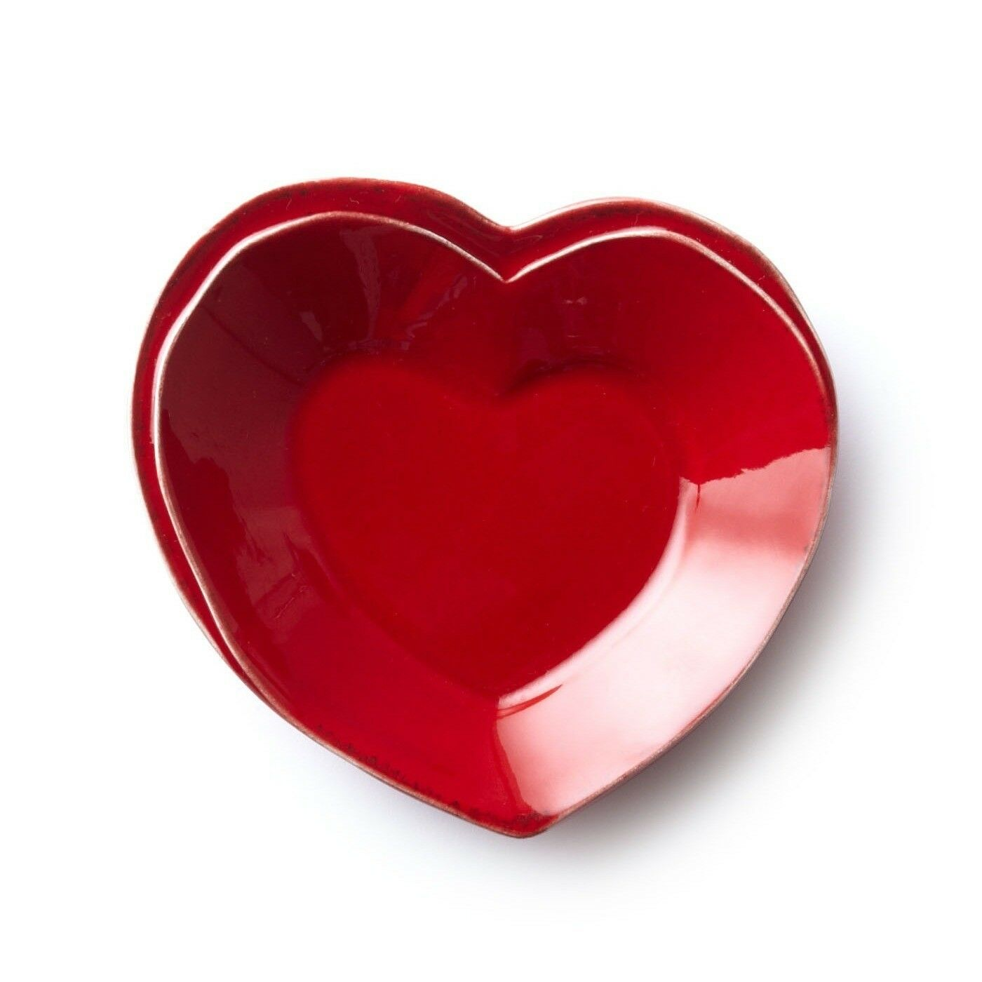 Vietri Lastra Red Heart Dish - Set of 4