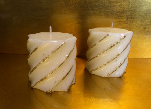 Decorare Candele Bianche : Glooke selected set candele steariche bianche art