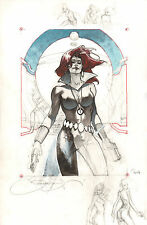 Black Widow Unfinished Color Commission - 2014 Signed art by Simone Bianchi