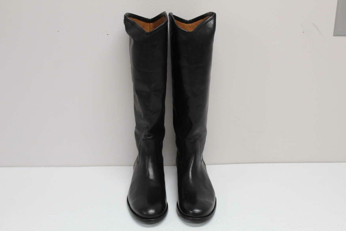 NIB Frye Boots Tall Wide Calf Black Leather Boots SIZE SIZE Boots 11B The Melissa Button 2 27a710