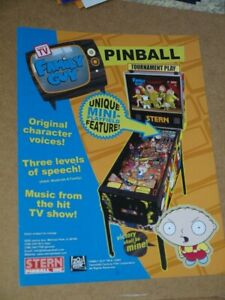Pinball machine FLYER - Stern - Family Guy (combined post - Use BASKET)