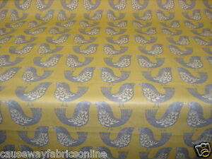 Smd Scandi Birds Mustard Matt Finish Wipe Clean Pvc