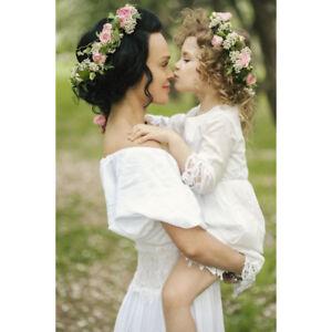 Haarband Boho Blumenkrone Blumenkranz Bündchen Hochzeit Braut  Verstellbare