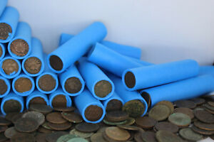 INDIAN-HEAD-PENNY-ROLL-OLD-WHEAT-CENTS-VINTAGE-COIN-COLLECTION-LINCOLN-CENT-SALE