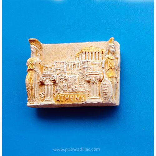 Greece Souvenir Fridge 3D Magnet Acropolis Pillar Gift Goddess Athena Aphrodite