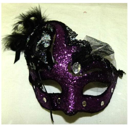 Deko Domino mit Federn Augenmaske Maskenball Maske Theater Kostüm 129040113