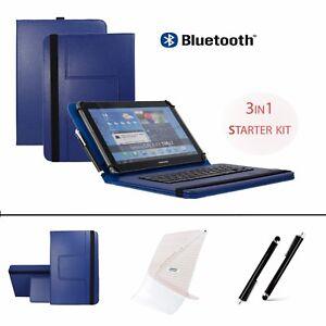 3-IN-1-SET-10-1-034-Bluetooth-Keyboard-Case-For-Archos-Diamond-Tab-2017-Blue