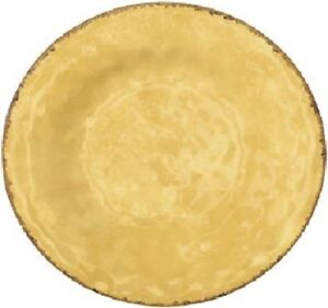 Image is loading NEW-Tuscan-Solid-Gold-11-034-Textured-Melamine-  sc 1 st  eBay & NEW Tuscan Solid Gold 11