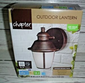 Garden Lighting Equipment Antique Bronze Outdoor Wall & Ceiling Lights Chapter Outdoor Coach Light with LED bulb