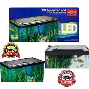 Fish Tank Hood With Led Light 20 55 Gallon Aquarium Accessory Daylight Shimmer Ebay
