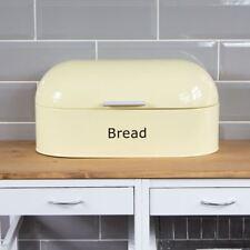 Retro Bread Bin Cream Steel Kitchen Top Storage Loaf Box New By Home Discount