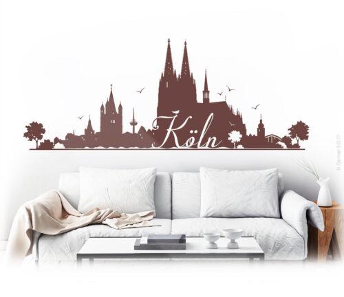 Cologne Tapisserie Murale Sticker Skyline mur Sticker Tatouage w103a