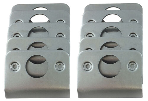 10 Steel Weld-On Plates for Self Ejecting Dzus Buttons  #2113