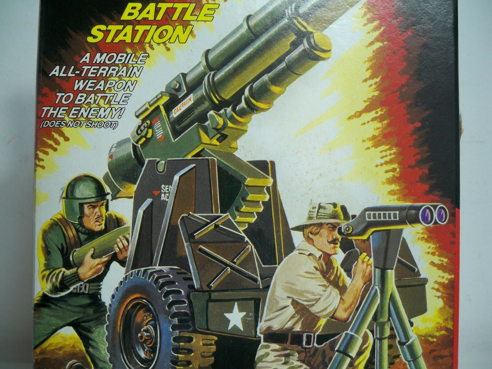 K1900611 MOUNTAIN HOWITZER MISB MINT IN SEALED BOX GI JOE 1984 VINTAGE ORIGINAL