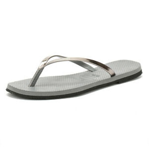 Shoes Flip Havaianas Metallic Grey You Summer Beach Sandals Womens Flops Ladies vwSvqUrB