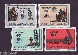 Fein Vatikan Nr 785-88 ** Eucharistischer Weltkongreß Lourdes Europa