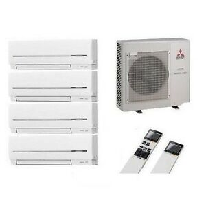 mitsubishi klimaanlage multi split 4 r um inverter 4 x msz. Black Bedroom Furniture Sets. Home Design Ideas