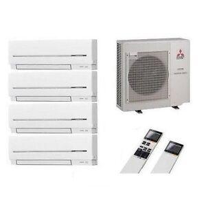 mitsubishi klimaanlage multi split 4 r um inverter 4 x msz. Black Bedroom Furniture Sets. Home Design Ideas