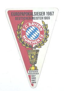 Details Zu Fc Bayern München Aufkleber Wimpel Dm 1969 Logo Bundesliga Fussball 616