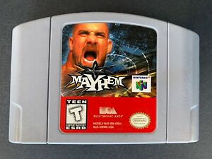 WCW-Mayhem-Nintendo-64-N64-Wrestling-OEM-Video-Game-Cart-Retro-Teen-Sports