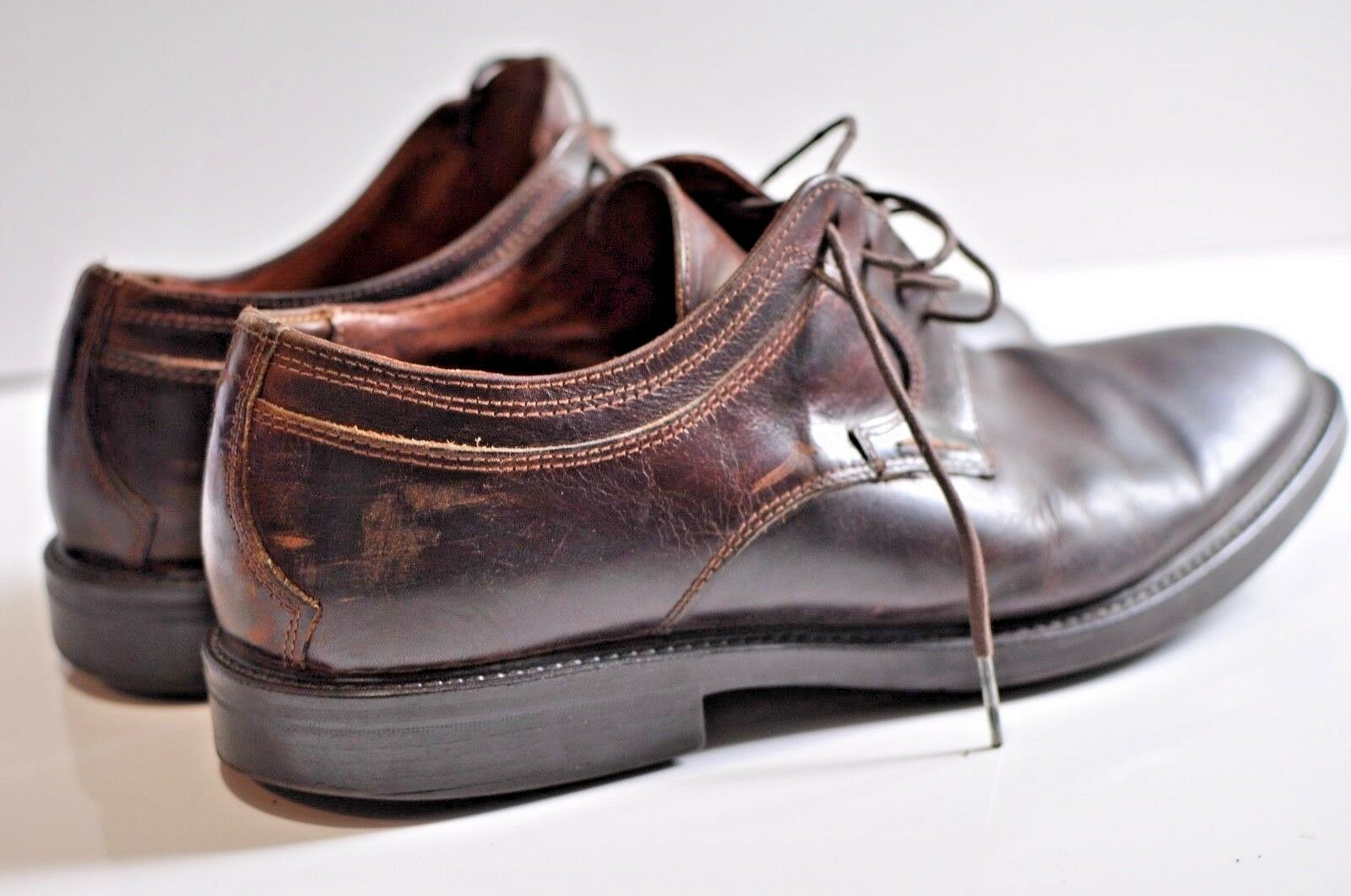 Johnston & Murphy Mens leather shoe size 11 made in Italy