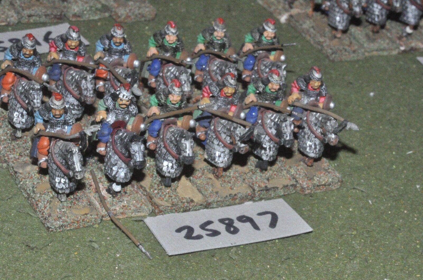 25mm medieval Turk-Heavy 12 figuras-CAV (25897)
