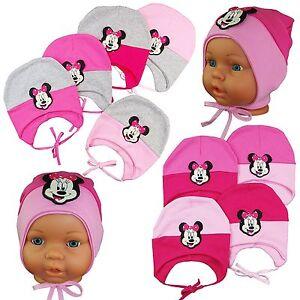 Minnie-Mouse-Muetze-Babymuetze-Kindermuetze-Maedchenmuetze-Sommermuetze-Groesse-47-49cm