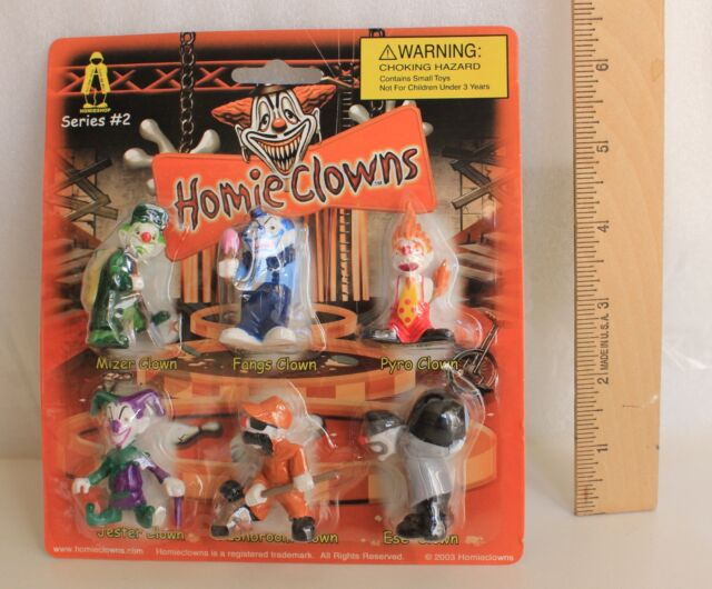 New Homie Clowns Packaged card contains set of 6 Homies  PSYCHO Clown figures
