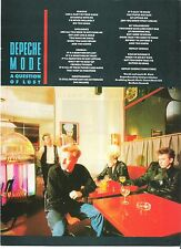 DEPECHE MODE A Question Of Lust lyrics magazine PHOTO / clipping 11x8 inches