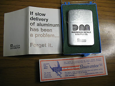 Park Lighter Advertising ALCOA Ducommun Metals Aluminum USA