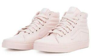 Vans-SK8-HI-Mono-Canvas-Peach-Blush-Women-039-s-Shoes-Size-6