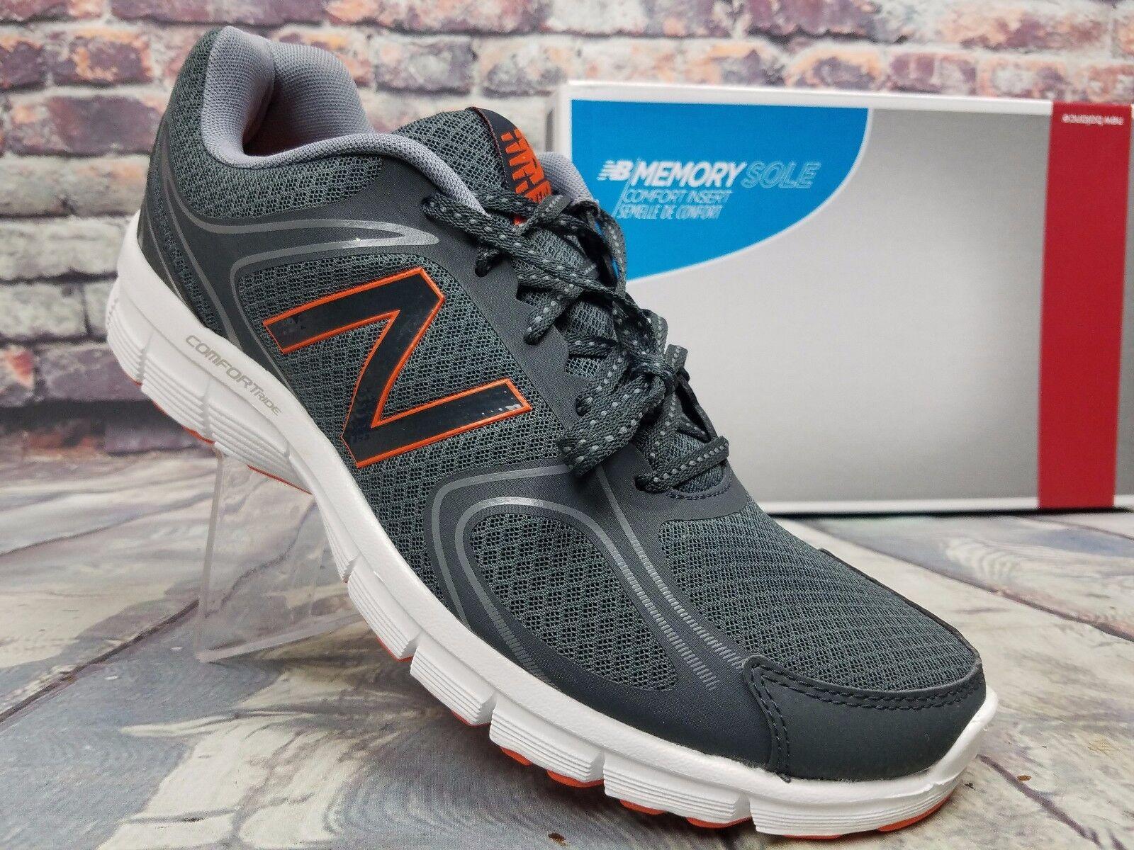 Mens NEW BALANCE Shoes Comfort Ride Running Athletic Gray / Orange  Sz 11 D US