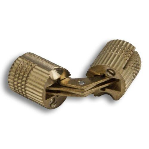 INVISIBLE BRASS CONCEALED BARREL CABINET HIDDEN HINGE 2 PK NEW! ROCKLER 10 mm