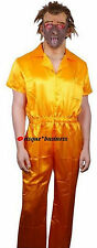 Prisoner Hannibal Cannibal Lecter Jailbird Halloween Fancy Dress Costume - M