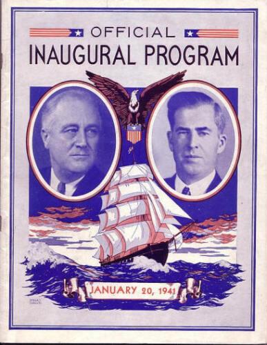 1941 Franklin Roosevelt Inaugural Program Original
