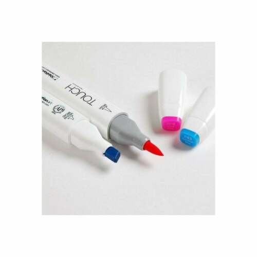 SHINHAN TOUCH TWIN BRUSH MARKERS 24 COLOUR SET GRAPHIC ART PENS