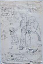 GARTH WILLIAMS~ORIGINAL DETAILED PRELIM DRAWING #37~THE RESCUERS~MISS BIANCA