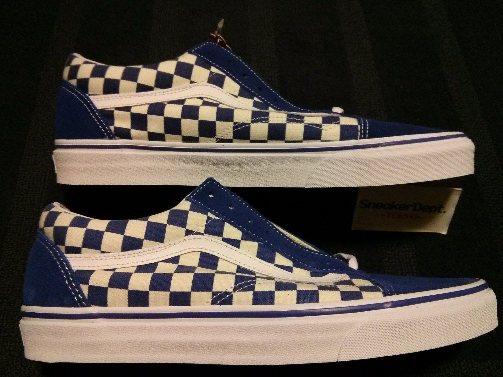 DS 2018 VANS OLD SKOOL PRIMAR BLUE CHECKER SZ12