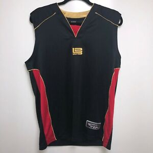 uk availability 1f54d ad516 L23 Basketball Jersey Men's S Black Red Gold Lebron James ...