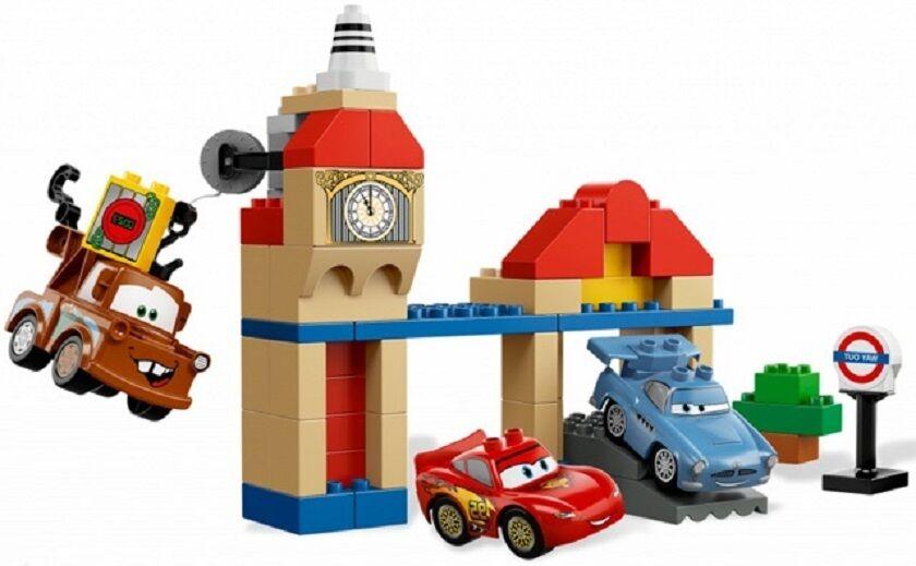 Lego Duplo Set  5828 ( Cars )  Big Bentley  Kirche Turm Seilwinde Lightning Mc Q