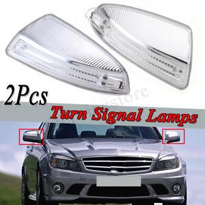 Para-Mercedes-Benz-W204-C-Clase-07-11-LH-RH-Espejo-Indicador-Lampara-Luz-Par