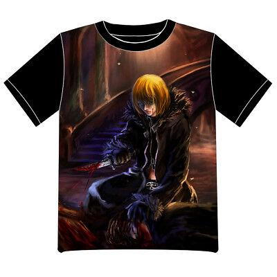 Neu Mello Death Note Anime T-Shirt Summer EU XS S M L XL XXL Schwarz Cosplay