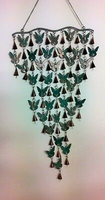 Handmade Butterfly Windchime with Bells Ethical Trade from India