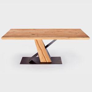 esstisch wildeiche massiv 200 x 100cm designer frankfurt table eiche tisch ge lt ebay. Black Bedroom Furniture Sets. Home Design Ideas