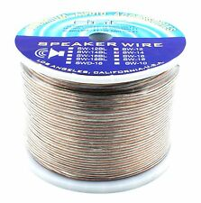DNF 100% COPPER CLEAR SPEAKER WIRE 14 GAUGE 500 FEET - SHIPS FREE TODAY!