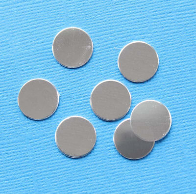 "MT077 20 Stamping Tags Square Mirror Finish Aluminum 1/"" Disc"