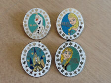DISNEY PINS FROZEN ELSA-ANNA-OLAF-CASTLE- Set of 4 as shown in picture,Fast Ship