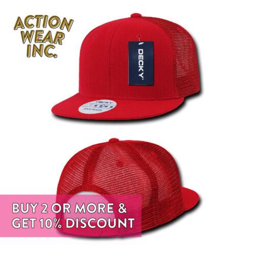 DECKY MEN/'S MESH HAT TRUCKER HATS BASEBALL CAP SNAPBACK CAPS PLAIN TWO TONE HAT