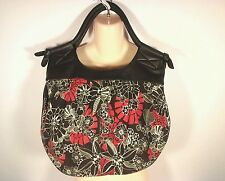 RIP CURL Satchel  Beach Surf Hawaii Bag Handbag Tote Purse Floral Red Brown