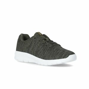 Trespass-Mens-Black-Trainers-Memory-Foam-Lace-Up-Gym-Walking-Shoes-Rodan